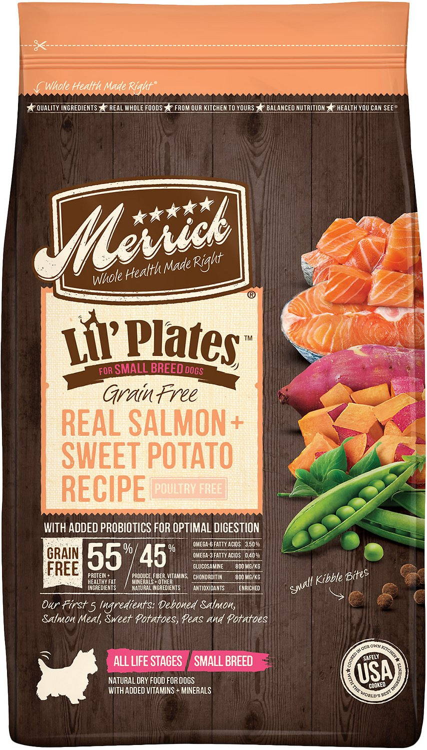 Merrick Lil' Plates Grain-Free Real Salmon & Sweet Potato Dry Dog Food