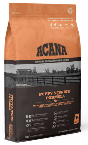 Acana Heritage Puppy & Junior Formula Grain-Free Dry Dog Food