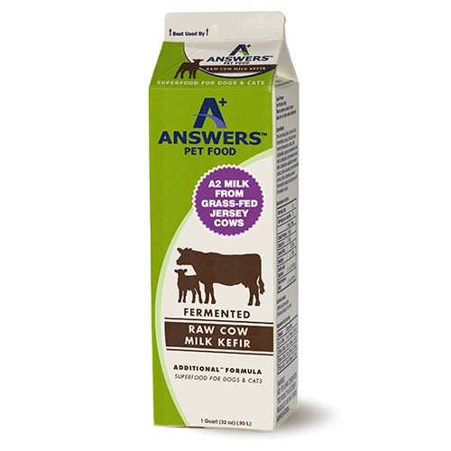 Answers Fermented Raw Cow Milk Kefir Cat and Dog Food