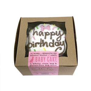 Bubba Rose Pink Birthday Baby Cake Dog Treat