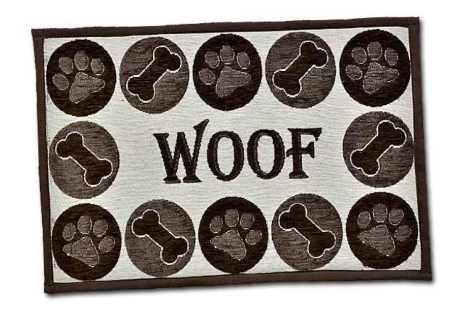 Loving Pets Bella Fashion Mat Woof Chenille Dog Supply-Le Pup Pet Supplies and Grooming