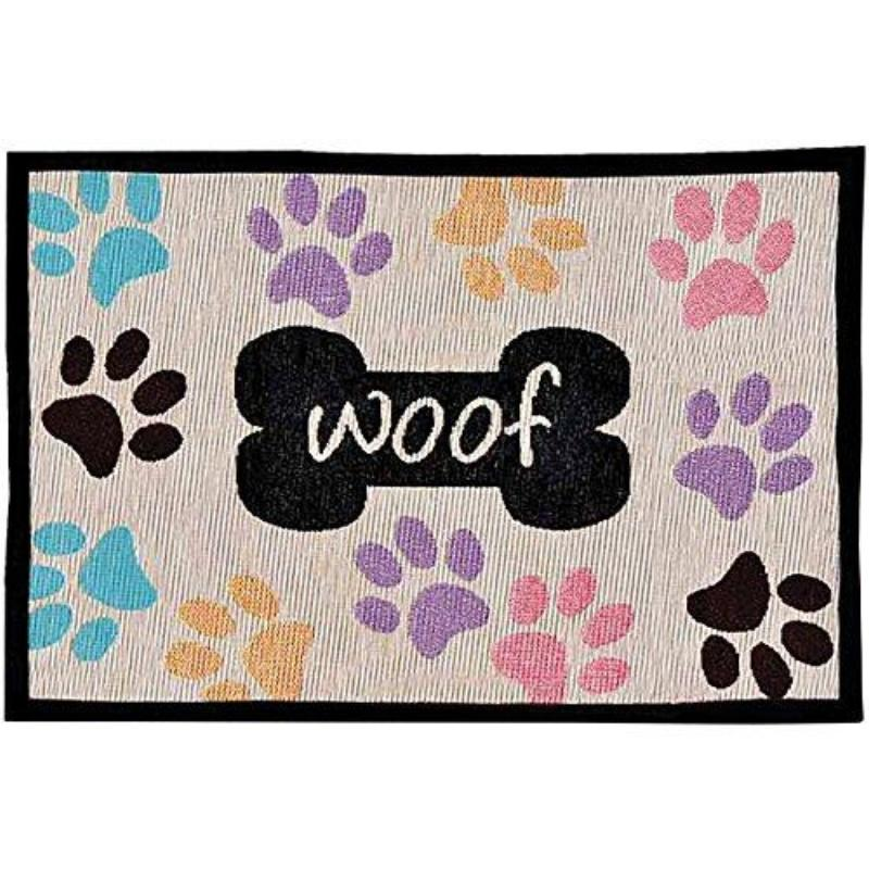 Loving Pets Bella Fashion Mat Woof Multi Paws Dog Supply-Le Pup Pet Supplies and Grooming
