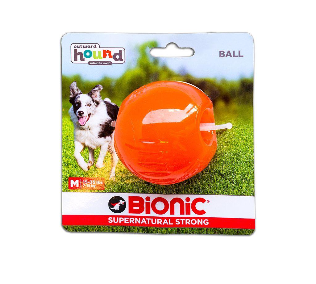 Outward Hound Bionic Ball Orange Dog Toy-Le Pup Pet Supplies and Grooming