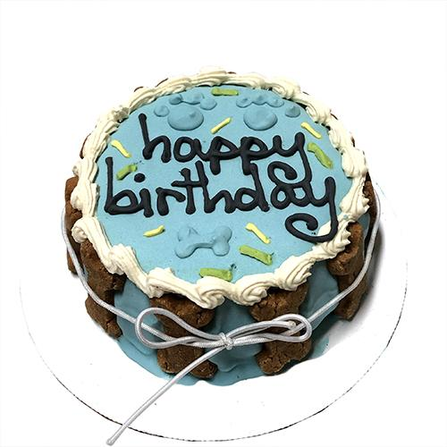 Bubba Rose Blue Birthday Cake Dog Treat