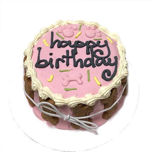 Bubba Rose Pink Birthday Cake Dog Treat