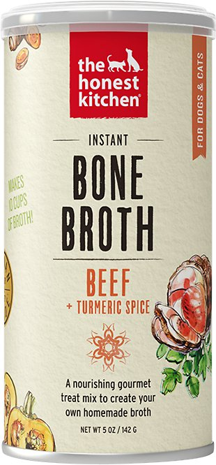 The Honest Kitchen Bone Broth Beef & Turmeric Grain-Free Dog Food and Cat Food, 5oz.-Le Pup Pet Supplies and Grooming