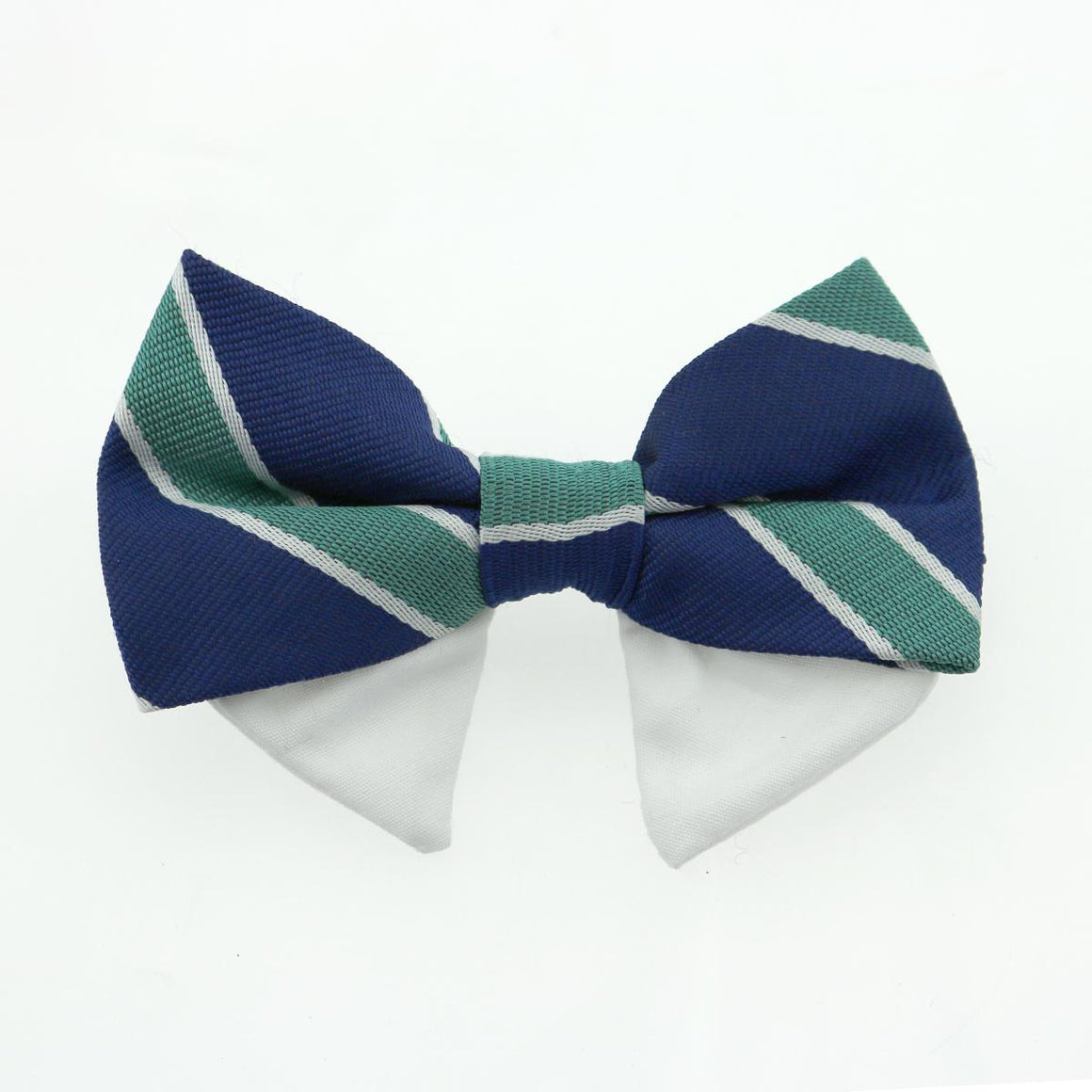 Doggie Design Universal Dog Bow Tie - Navy Blue and Teal Stripe-Le Pup Pet Supplies and Grooming