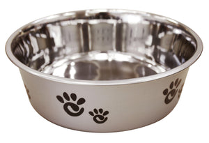 Spot Barcelona Pearlized Silver Stainless Steel Bowl Dog Supply-Le Pup Pet Supplies and Grooming