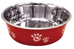 Spot Barcelona Raspberry Stainless Steel Bowl Dog Supply-Le Pup Pet Supplies and Grooming