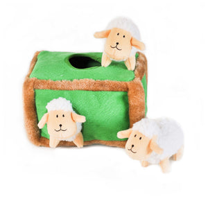 ZippyPaws Zippy Burrow Sheep Pen Dog Toy-Le Pup Pet Supplies and Grooming