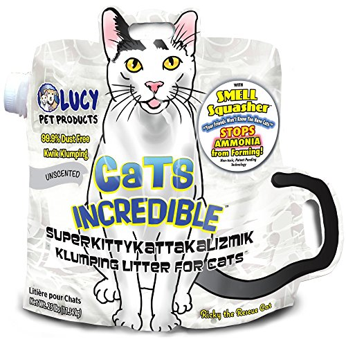 Lucy Pet Products Cats Incredible Unscented SuperKittyKattakalizmik Klumping Litter Cat Supply-Le Pup Pet Supplies and Grooming