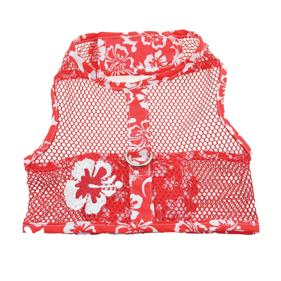 Doggie Design Cool Mesh Hawaiian Hibiscus Dog Harness, select-Le Pup Pet Supplies and Grooming