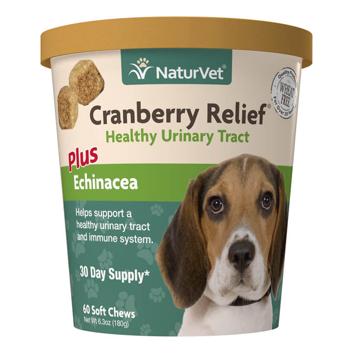 NaturVet Cranberry Relief Plus Echinacea Soft Chews Dog Supply