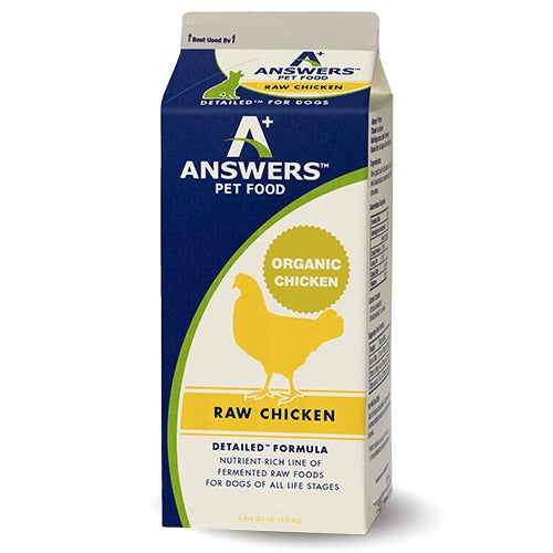 Answers Detailed Formula Raw Chicken Grain-Free Dog Food
