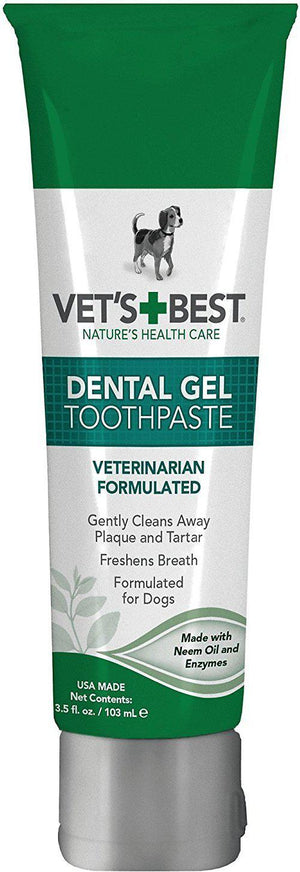 Vet's Best Dental Gel Toothpaste Dog Supply, 3.5oz.-Le Pup Pet Supplies and Grooming