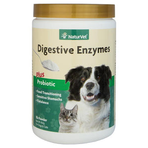 NaturVet Digestive Enzymes Powder with Pre & Probiotics Dog and Cat Supply-Le Pup Pet Supplies and Grooming