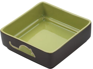 Ethical Four Square 5″ Cat Dish Cat Supply, color varies-Le Pup Pet Supplies and Grooming