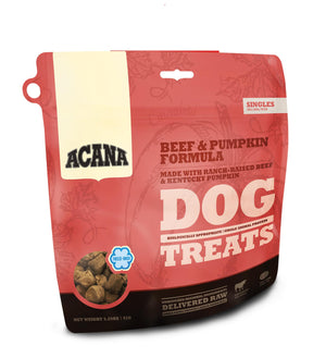 Acana Singles Beef & Pumpkin Freeze-Dried Dog Treats-Le Pup Pet Supplies and Grooming