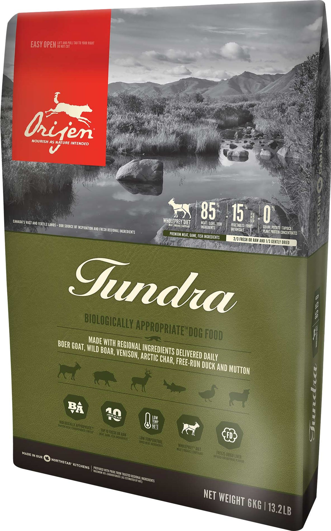 Orijen Tundra Biologically Appropriate Grain-Free Dry Dog Food-Le Pup Pet Supplies and Grooming