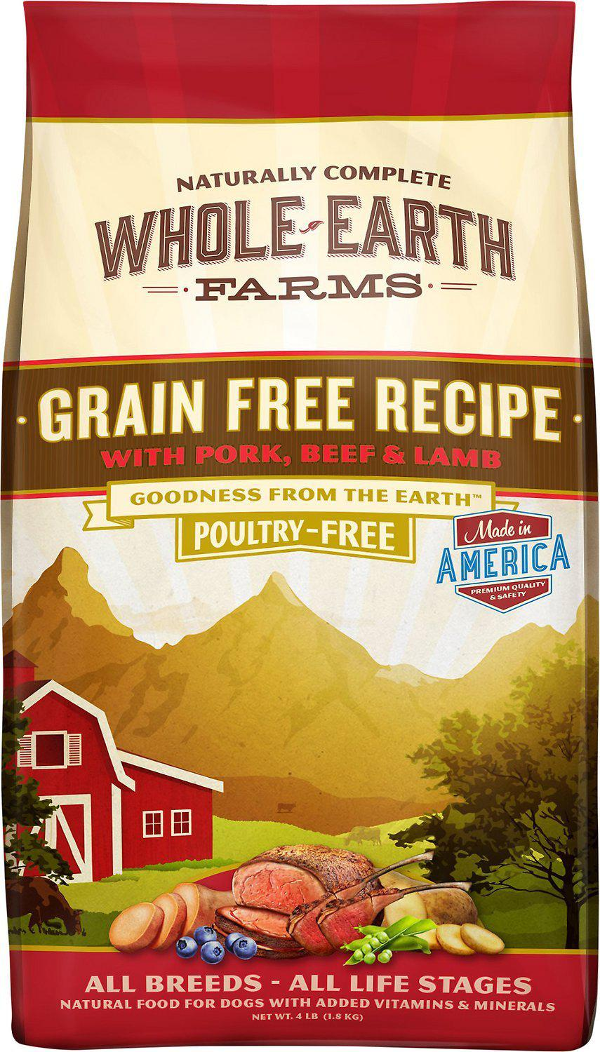 Whole Earth Farms Grain-Free Pork, Beef & Lamb Dry Dog Food-Le Pup Pet Supplies and Grooming