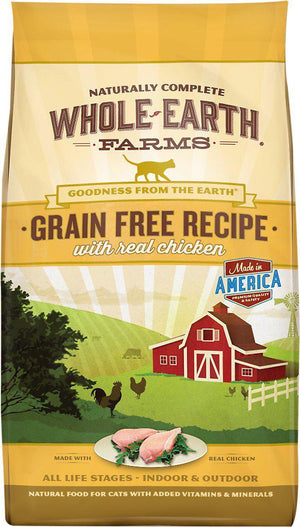 Whole Earth Farms Grain-Free Real Chicken Dry Cat Food-Le Pup Pet Supplies and Grooming
