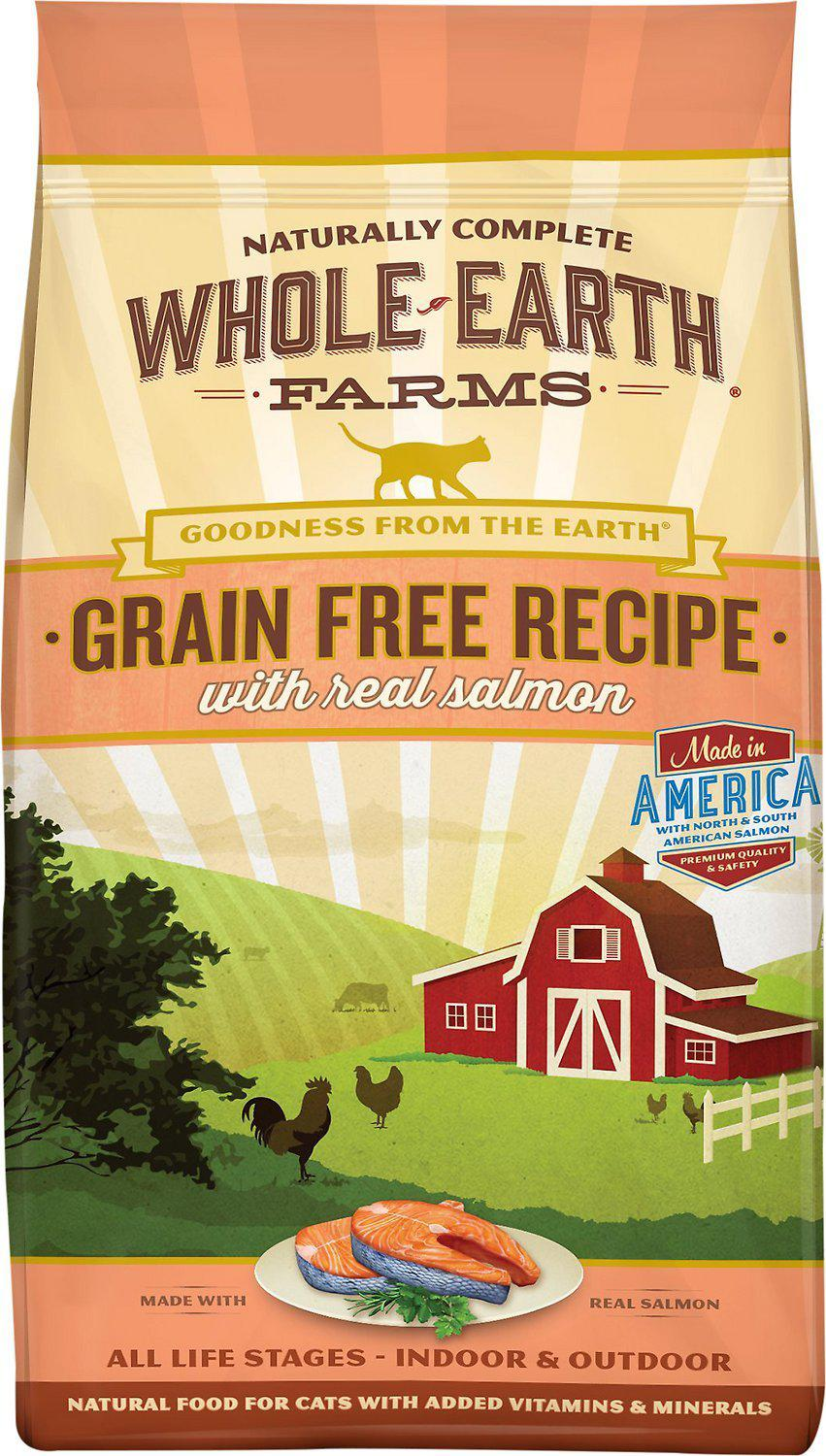 Whole Earth Farms Grain-Free Real Salmon Dry Cat Food-Le Pup Pet Supplies and Grooming