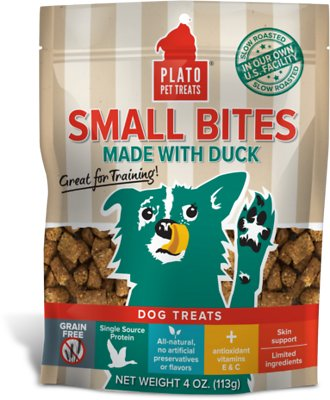 Plato Small Bites Slow Roasted Duck Dog Treats-Le Pup Pet Supplies and Grooming