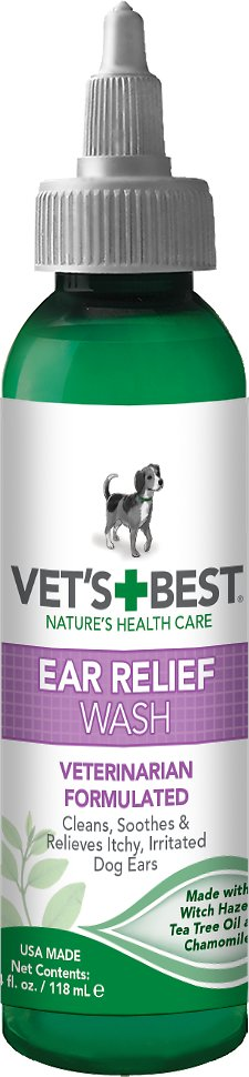 Vet's Best Ear Relief Wash Dog Supply, 4Fl. oz.-Le Pup Pet Supplies and Grooming