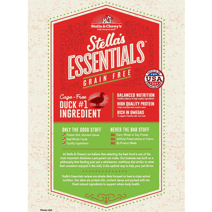 Stella & Chewy's Essentials Grain-Free Cage-Free Duck & Lentils Recipe Dog Food