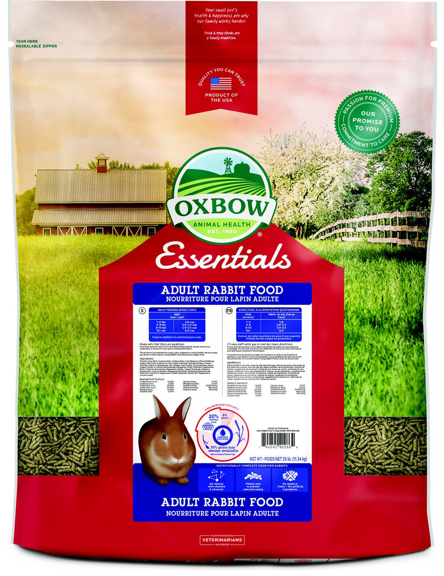 Oxbow Essentials Adult Rabbit Food-Le Pup Pet Supplies and Grooming