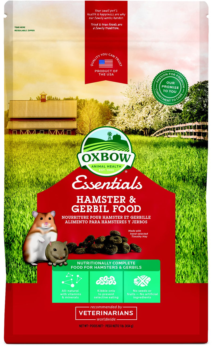 Oxbow Essentials Hamster & Gerbil Food-Le Pup Pet Supplies and Grooming