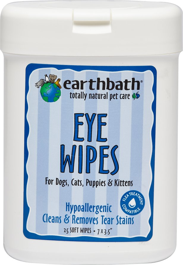 Earthbath Eye Wipes for Dogs and Cats, 25 count-Le Pup Pet Supplies and Grooming