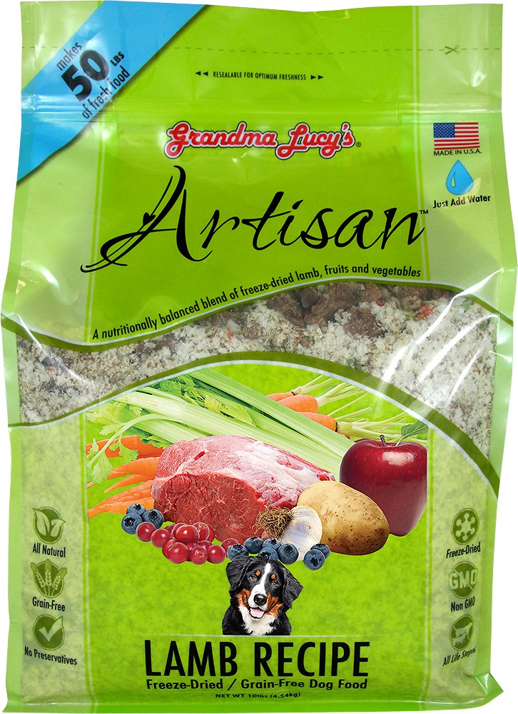 Grandma Lucy's Artisan Lamb Recipe Grain-Free Freeze-Dried Dog Food-Le Pup Pet Supplies and Grooming