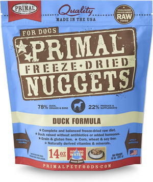 Primal Duck Formula Grain-Free Freeze-Dried Raw Nuggets Dog Food-Le Pup Pet Supplies and Grooming