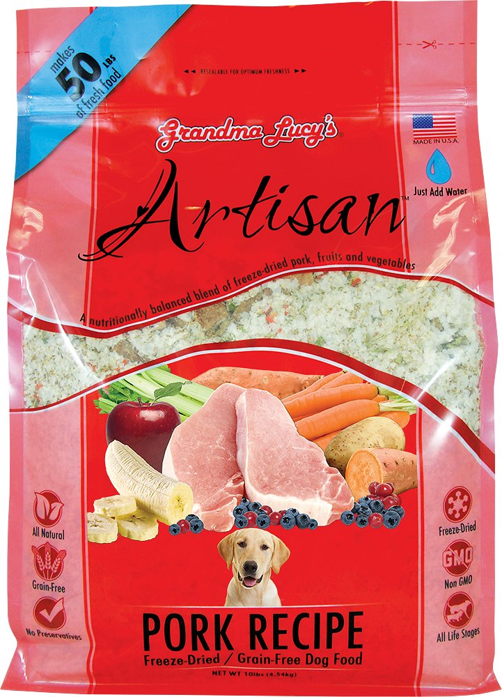 Grandma Lucy's Artisan Pork Recipe Grain-Free Freeze-Dried Dog Food-Le Pup Pet Supplies and Grooming