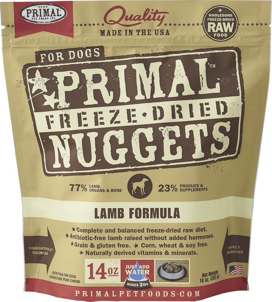 Primal Lamb Formula Grain-Free Freeze-Dried Raw Nuggets Dog Food-Le Pup Pet Supplies and Grooming