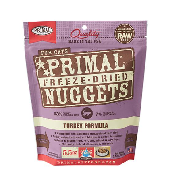 Primal Turkey Formula Grain-Free Freeze-Dried Raw Nuggets Cat Food-Le Pup Pet Supplies and Grooming