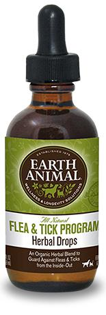 Earth Animal Flea & Tick Program Herbal Drops Health for Dogs and Cats, 2Fl oz.-Le Pup Pet Supplies and Grooming