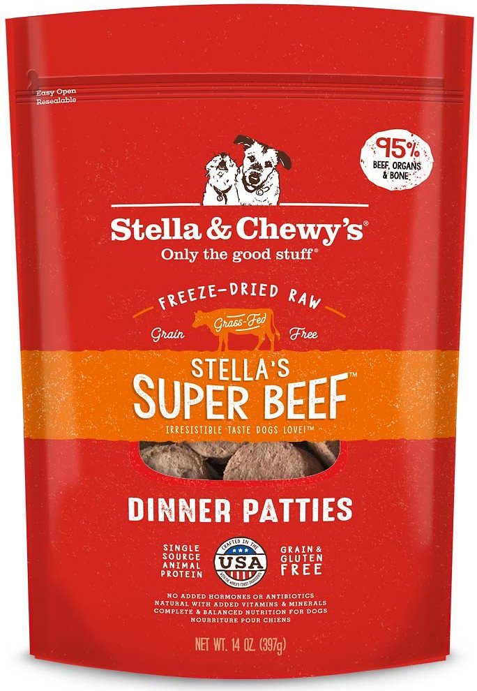 Stella & Chewy's Stella's Super Beef Grain-Free Freeze-Dried Raw Dinner Patties Dog Food-Le Pup Pet Supplies and Grooming