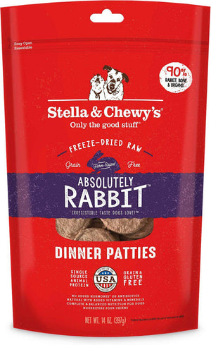 Stella & Chewy's Absolutely Rabbit Grain-Free Freeze-Dried Raw Dinner Patties Dog Food-Le Pup Pet Supplies and Grooming