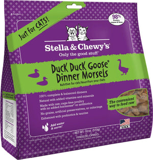 Stella & Chewy's Duck Duck Goose Grain-Free Freeze-Dried Raw Dinner Morsels Cat Food-Le Pup Pet Supplies and Grooming