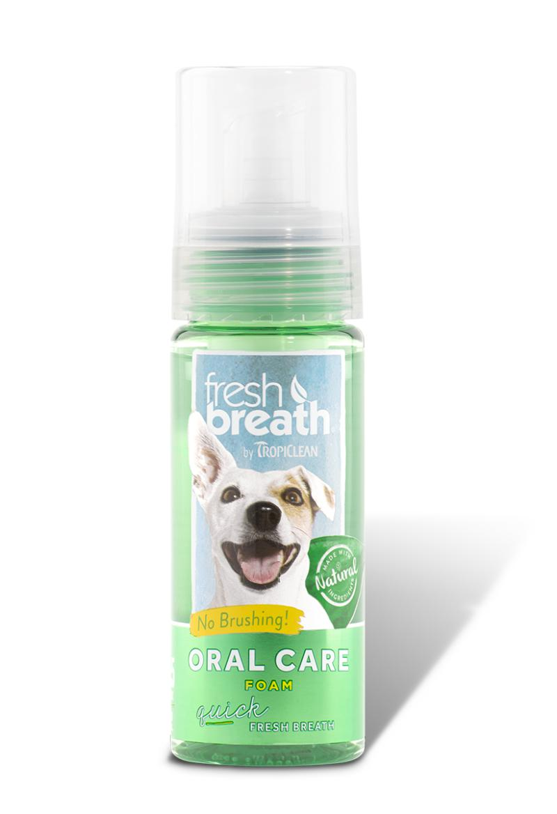 TropiClean Fresh Breath Mint Foam Oral Care for Dogs and Cats, 4.5oz.-Le Pup Pet Supplies and Grooming