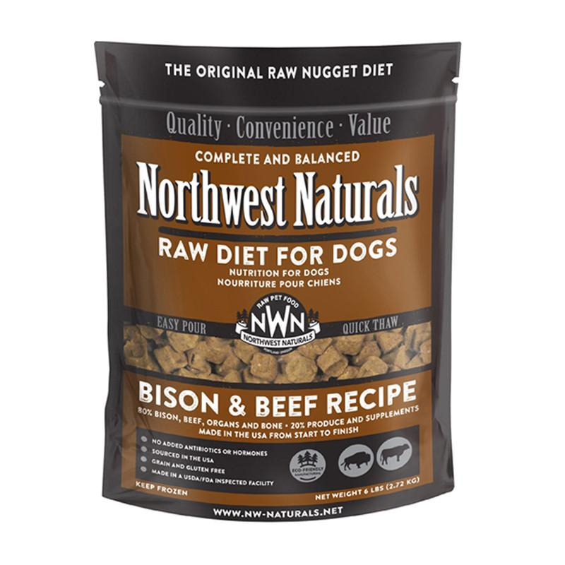 Northwest Naturals Bison & Beef Recipe Grain-Free Frozen Raw Nuggets Dog Food-Le Pup Pet Supplies and Grooming