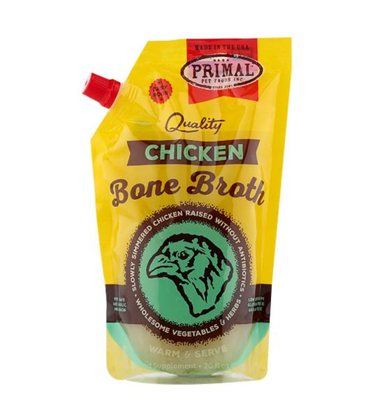 Primal Chicken Bone Broth Grain-Free Frozen Dog Food and Cat Food-Le Pup Pet Supplies and Grooming
