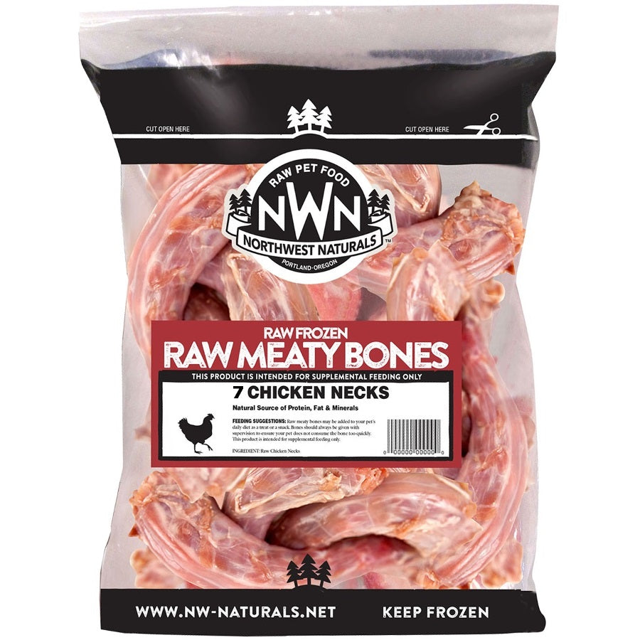 Northwest Naturals Meaty Bones Grain-Free Raw Frozen Chicken Neck Dog Food-Le Pup Pet Supplies and Grooming