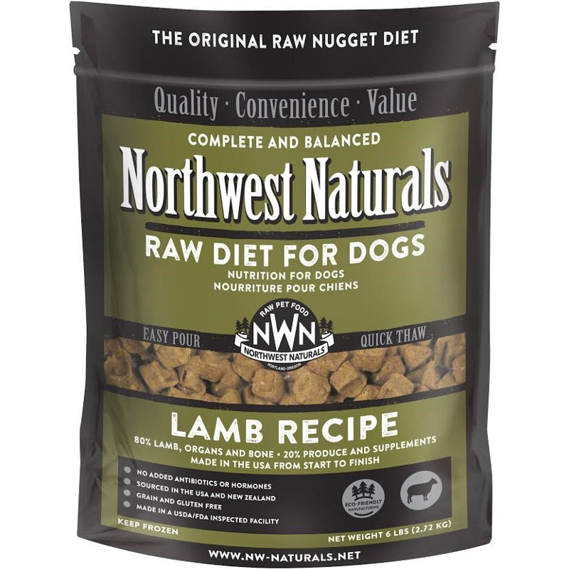 Northwest Naturals Lamb Recipe Grain-Free Frozen Raw Nuggets Dog Food-Le Pup Pet Supplies and Grooming