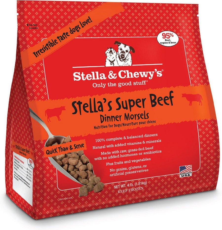 Stella & Chewy's Stella's Super Beef Grain-Free Frozen Raw Dinner Morsels Dog Food-Le Pup Pet Supplies and Grooming