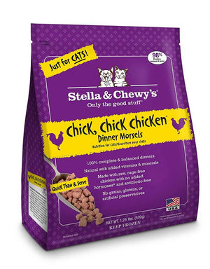 Stella & Chewy's Chick, Chick Chicken Grain-Free Frozen Raw Dinner Morsels Cat Food-Le Pup Pet Supplies and Grooming