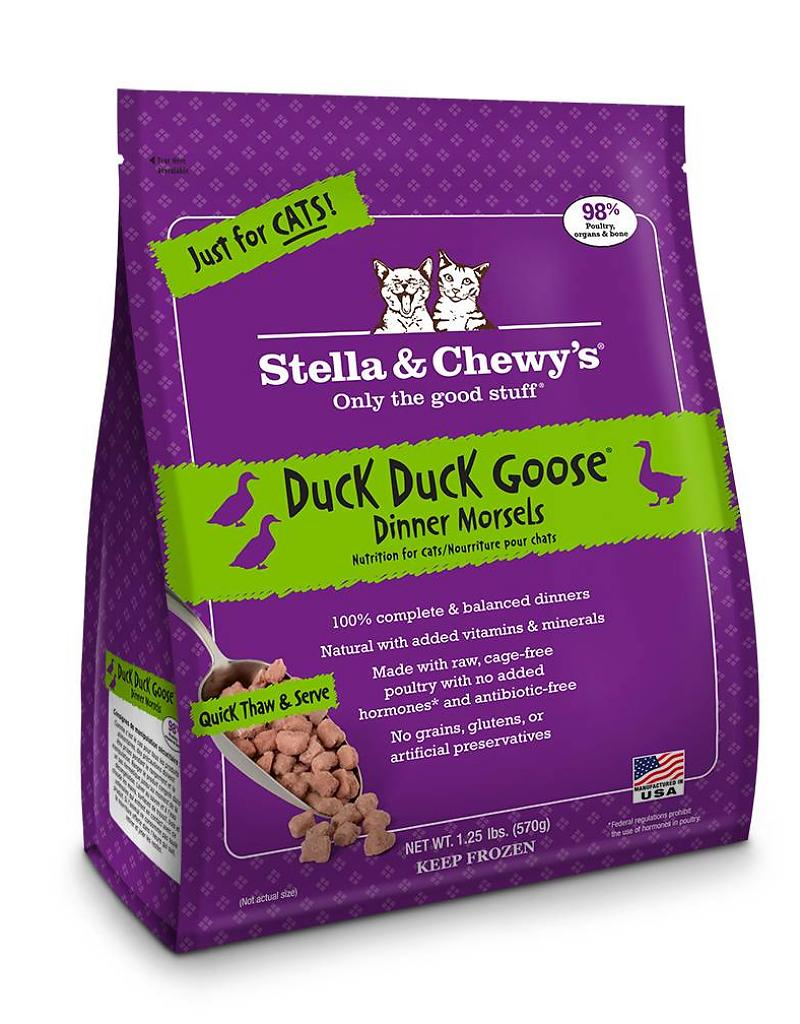 Stella & Chewy's Duck Duck Goose Grain-Free Frozen Raw Dinner Morsels Cat Food-Le Pup Pet Supplies and Grooming