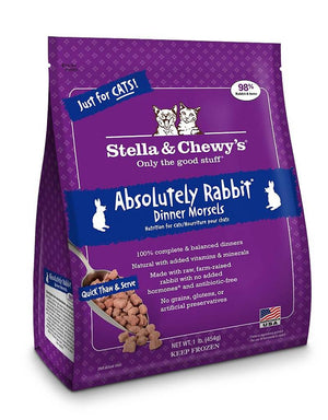 Stella & Chewy's Absolutely Rabbit Grain-Free Frozen Raw Dinner Morsels Cat Food-Le Pup Pet Supplies and Grooming